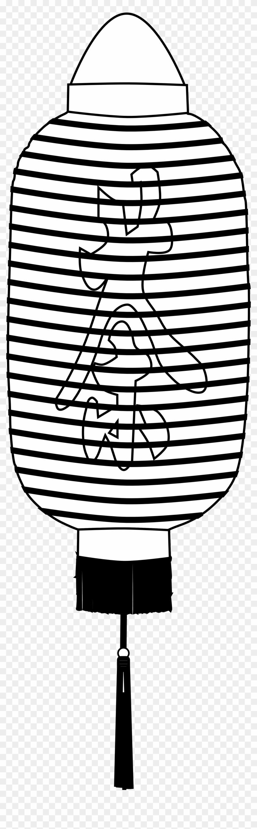 Chinese Lantern Chinese Lantern Black White Line Chinese - Chinese Lantern Chinese Lantern Black White Line Chinese #32530