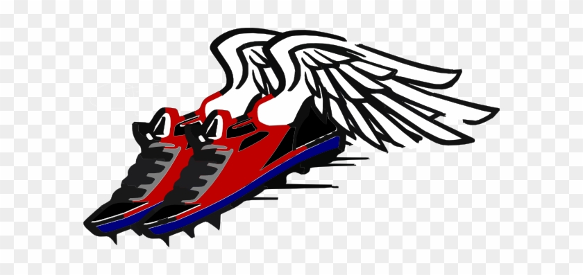 Wings Clipart Running Shoe - Running Shoes With Wings Clipart #32539
