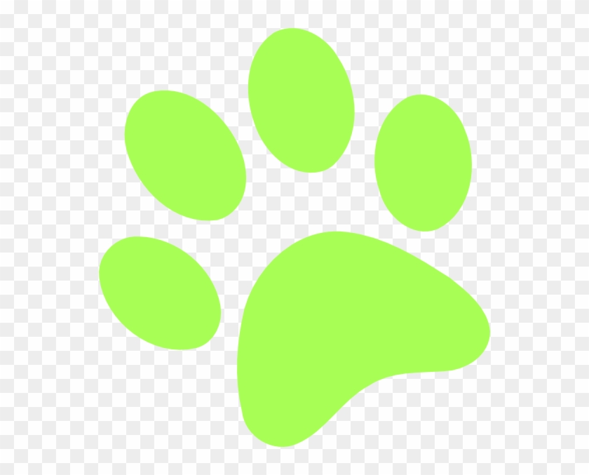 Lime Green Paw Print #32555