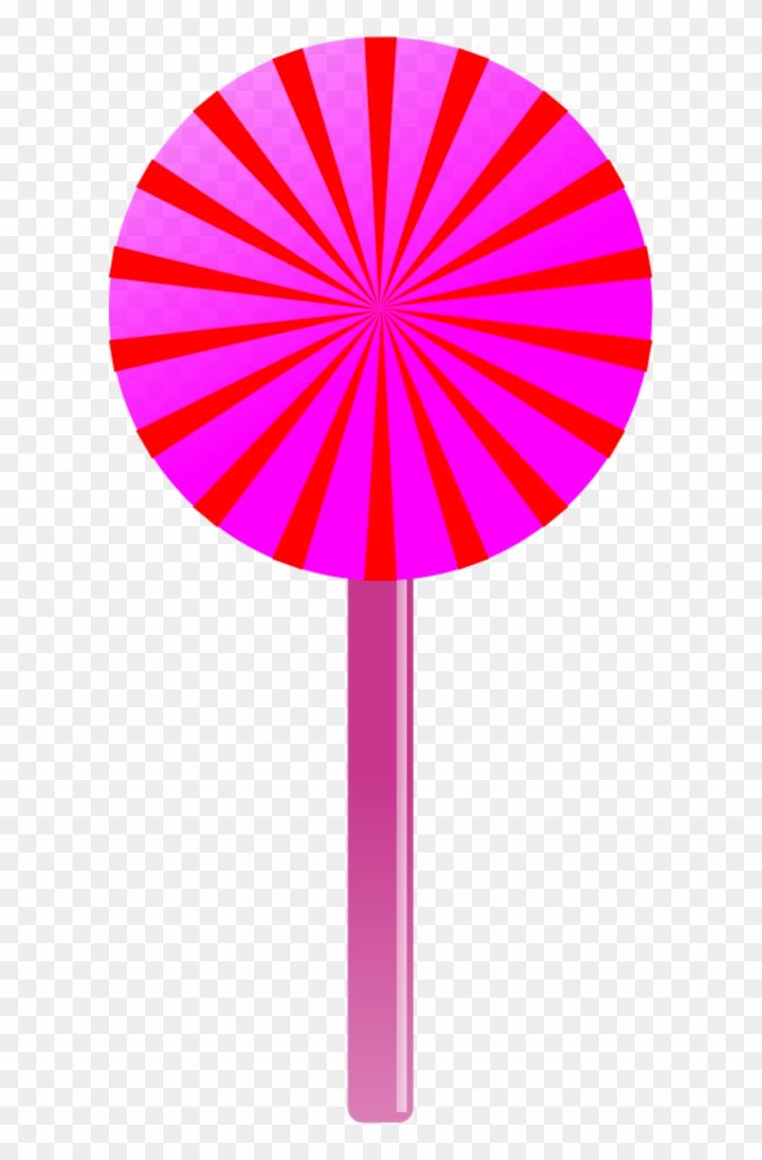 Lollipop Vector Clip Art - Lollipop Pink And White Free Vector #32562