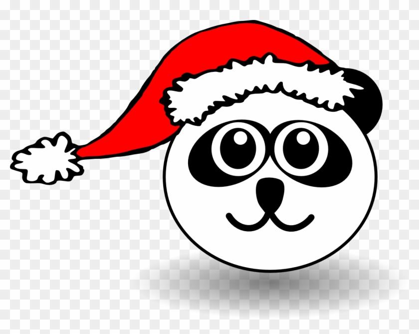 Clip Art Details - Panda Christmas Coloring Pages #32563