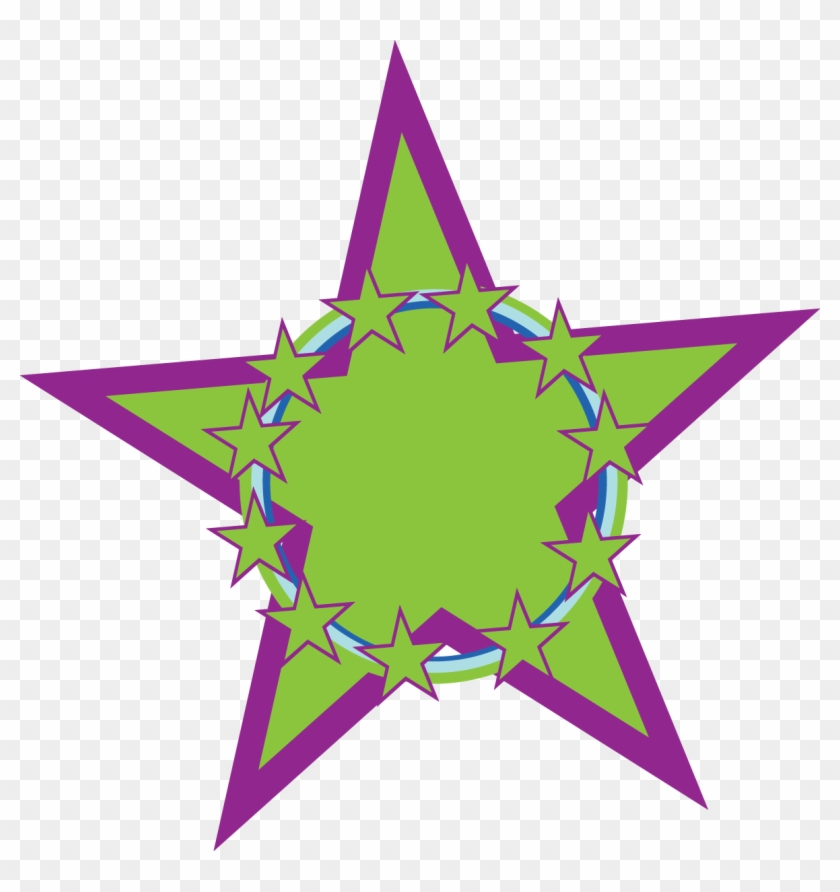 Rainbow Stars Clipart Free Clipart Images Clipartix - Purple And Green Star #32608