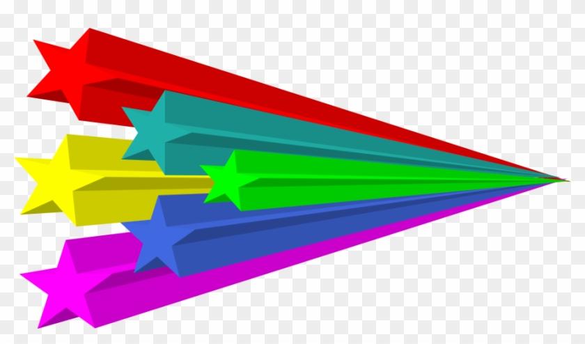 This Free Clip Arts Design Of Stars Vector 3d - Estrellas Fugaces De Colores #32611