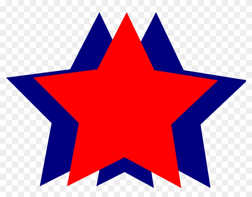 Star Clipart Red And Blue - 4th Of July Stars #32723