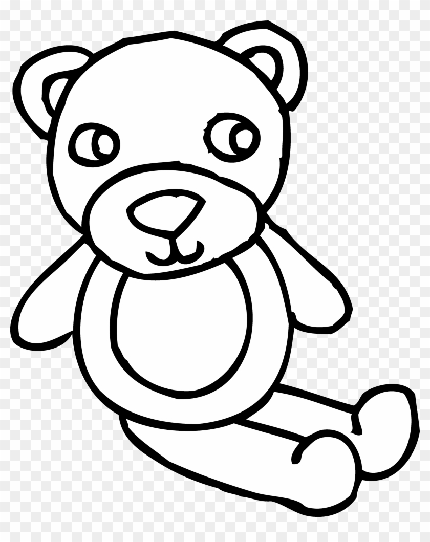 Black Bear Clip Art - Toy Black And White Clipart #32743