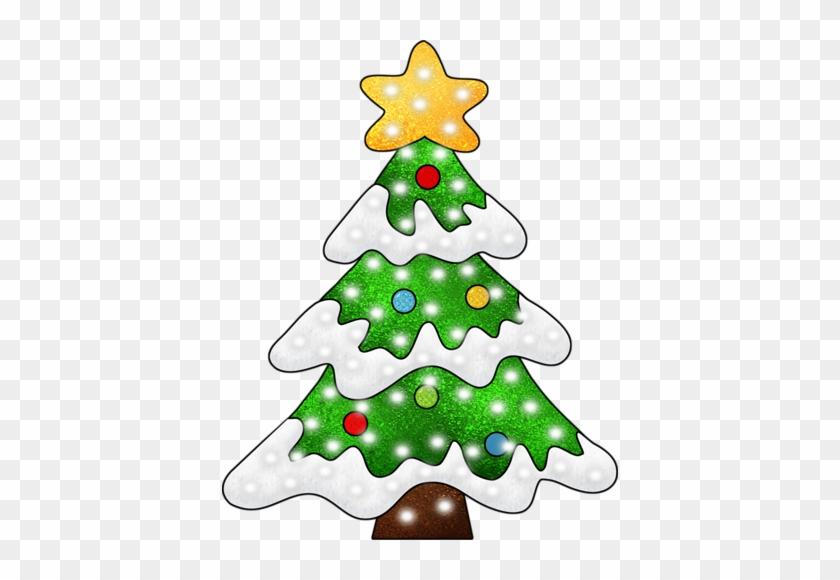 Christmas Clip Art - Christmas Tree With Snow Clipart #32746
