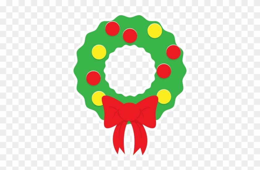 Christmas Wreath Clipart - Simple Christmas Wreath Clipart #32840