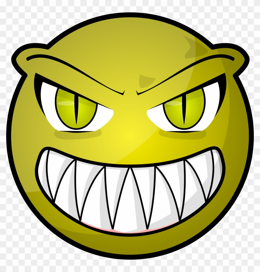 Clipart - Scary Face Clipart #32854