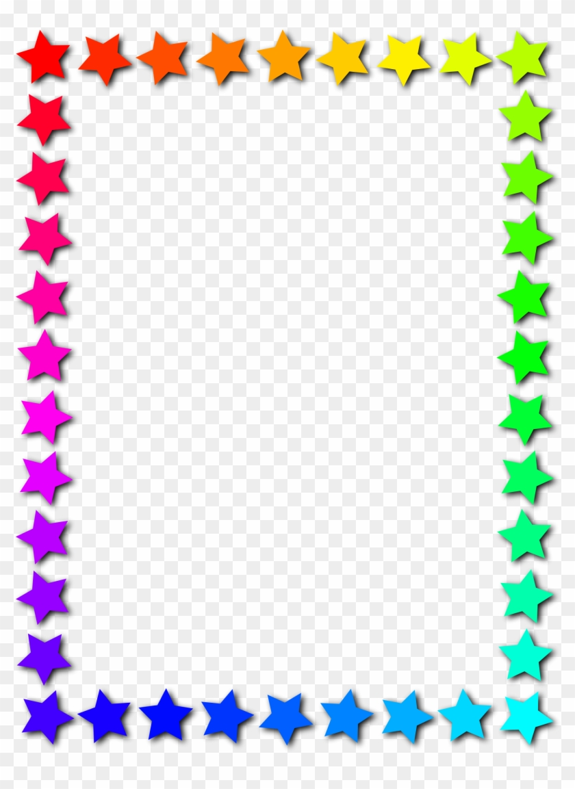 Clipart - Stars Frame Png #32873
