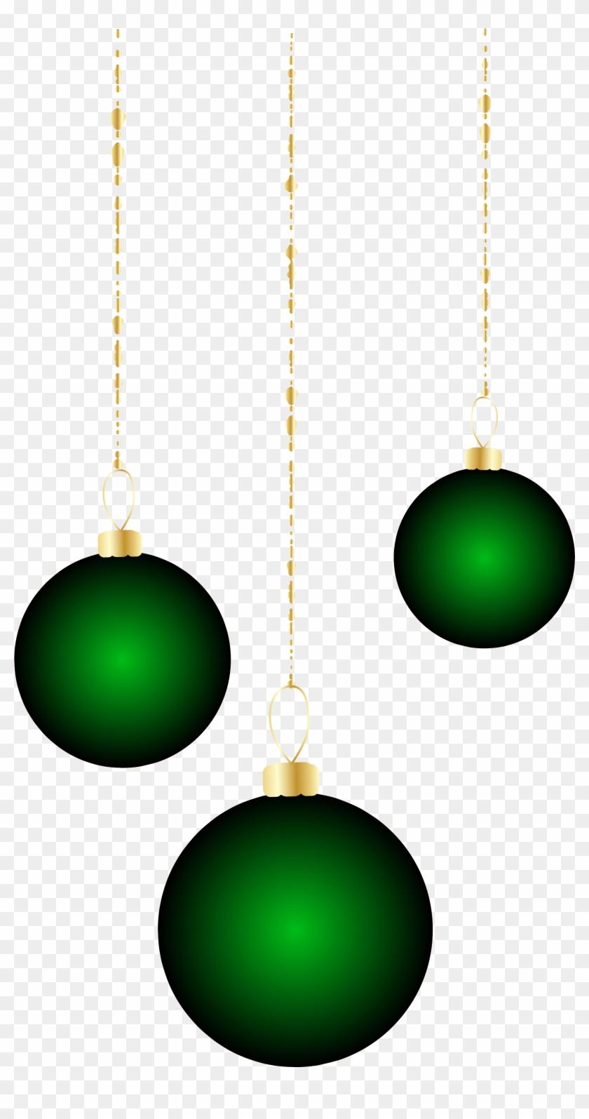 Transparent Christmas Green Ornaments Png Clipart - Clip Art #32896