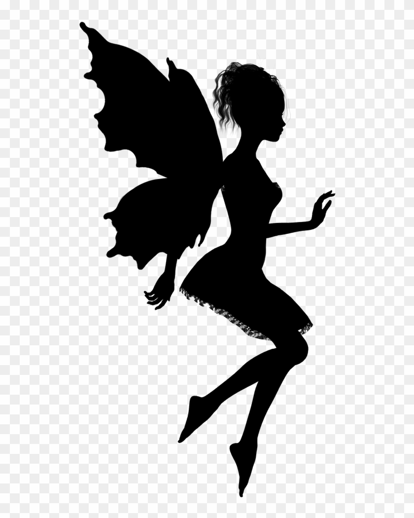 Fairy Silhouette Vector Art Related Keywords Amp Suggestions - Magical Fairies Wall Sticker #32903