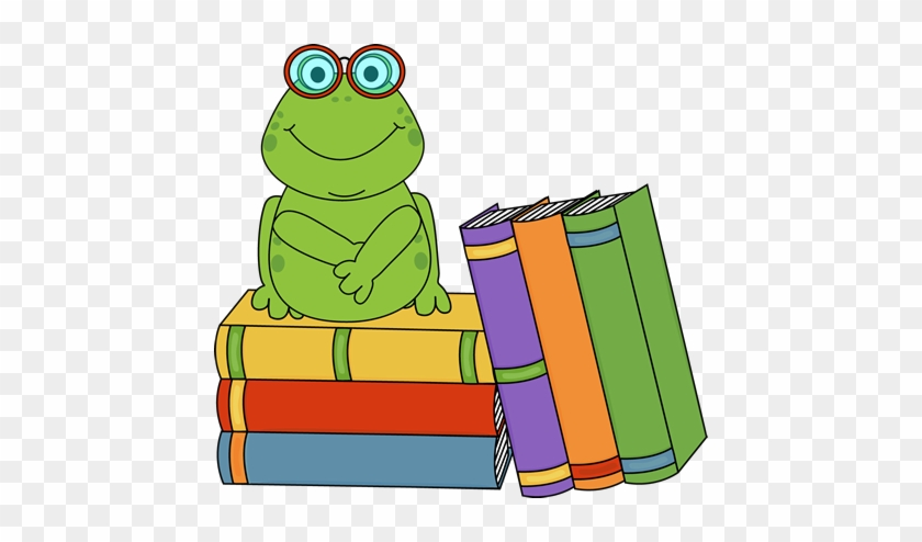 Books For Clip Art - Frog Reading A Book #32955