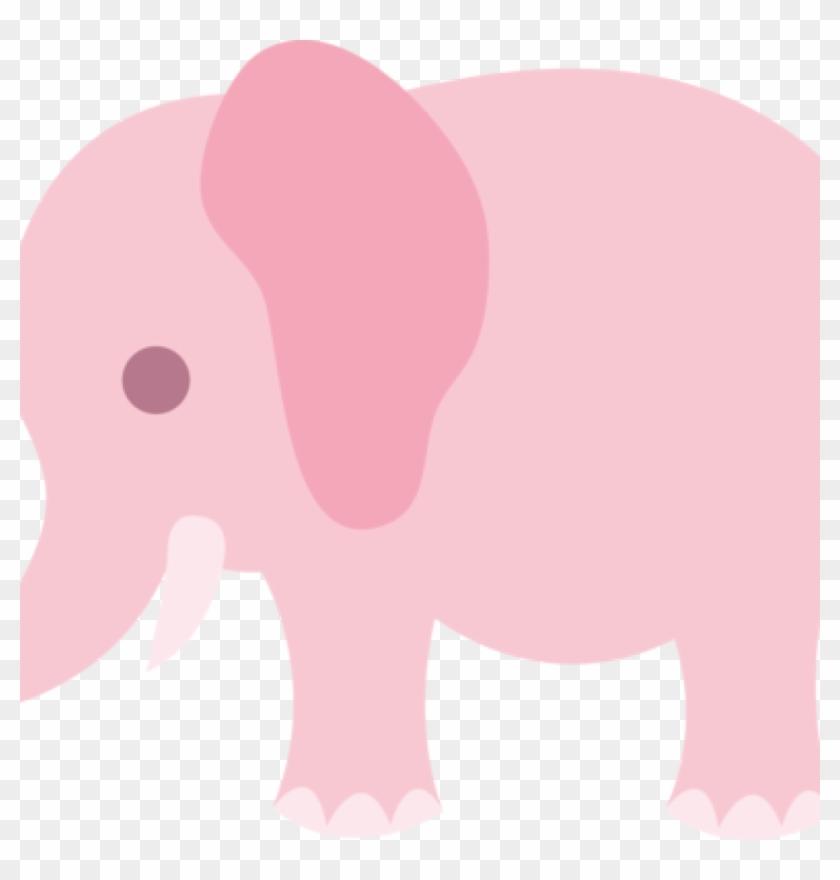Cute Elephant Clipart Little Pink Elephant Clip Art - Clip Art #32957