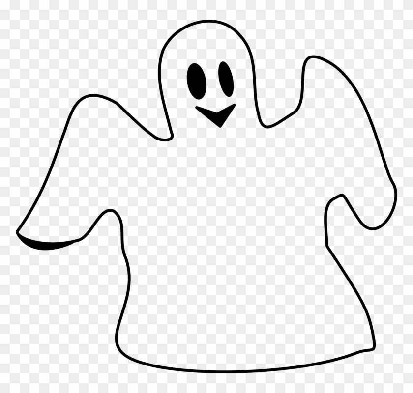 Ghost Spooking Spooky Happy White Smiling - Ghost Clip Art #32964