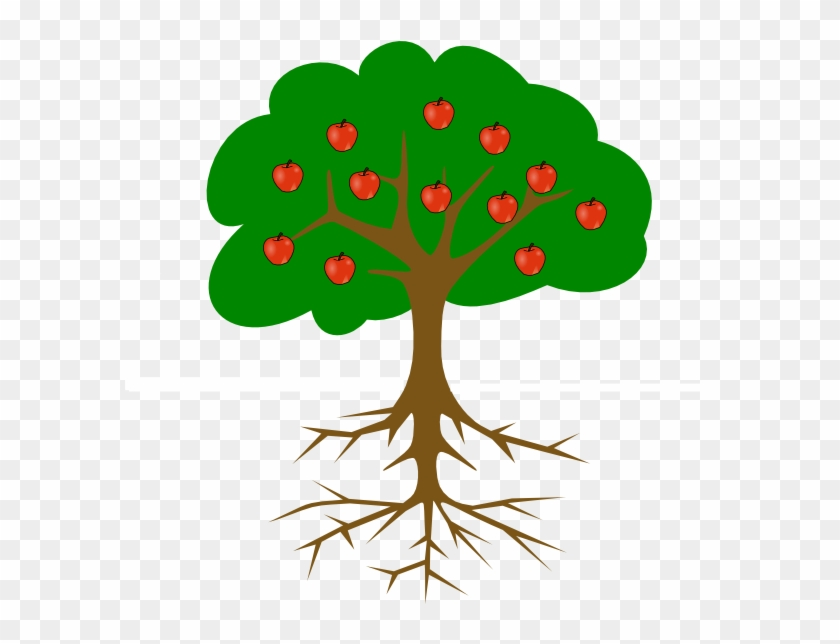 Tree With Roots Clip Art - Tree Clip Art #32981