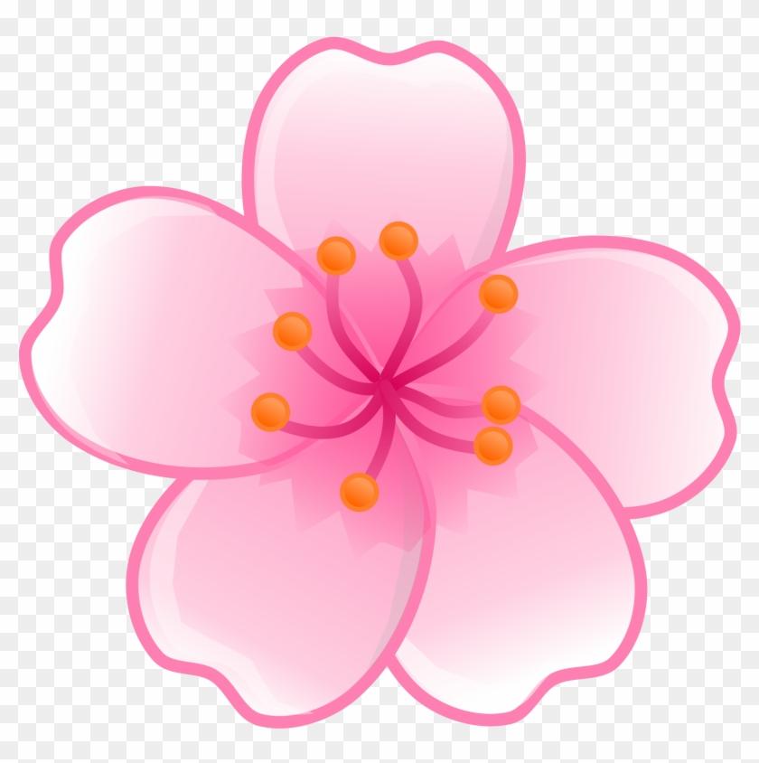 Japanese Clipart Japanese Flower - Sakura Flower Png #33025