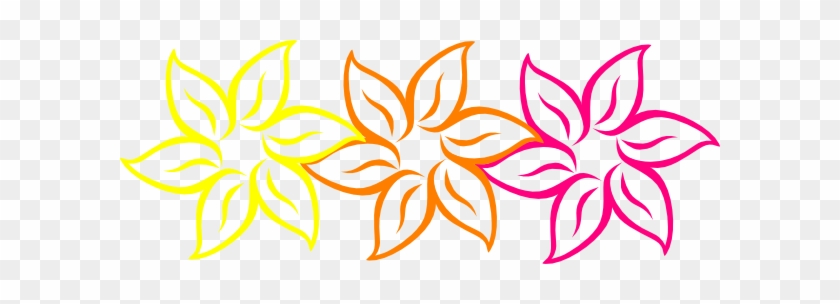 Rainbow Flower Hi Clipart - Corel Draw Flower Design #33045