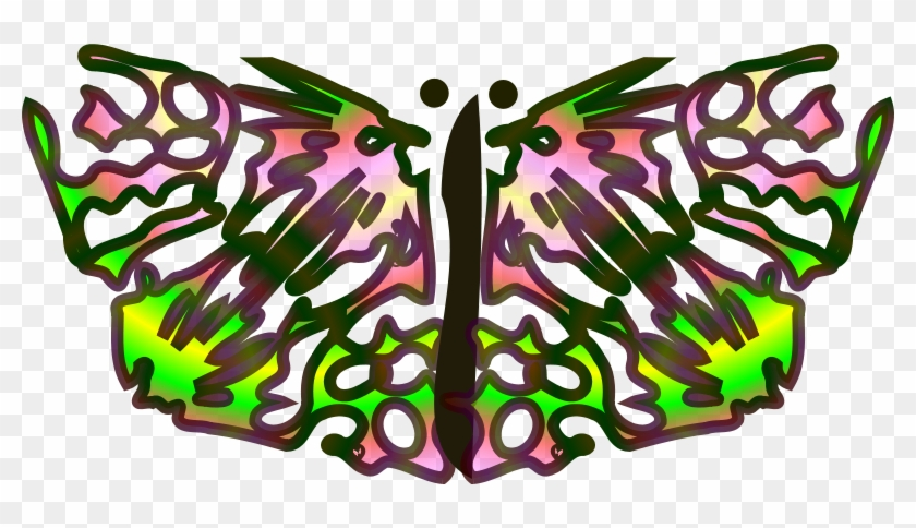 Free Vector Butterfly From Star Clip Art - Butterfly #33080