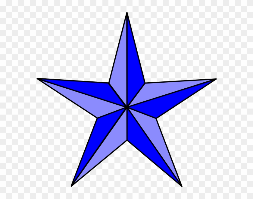 Blue Nautical Star Clip Art - Stained Glass Star Pattern #33114