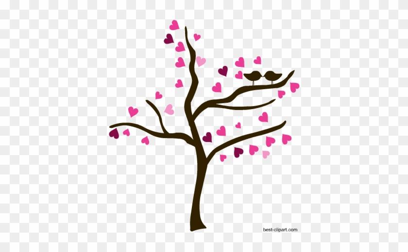 Love Birds On A Tree, Free Valentine Clip Art - Wedding #33141