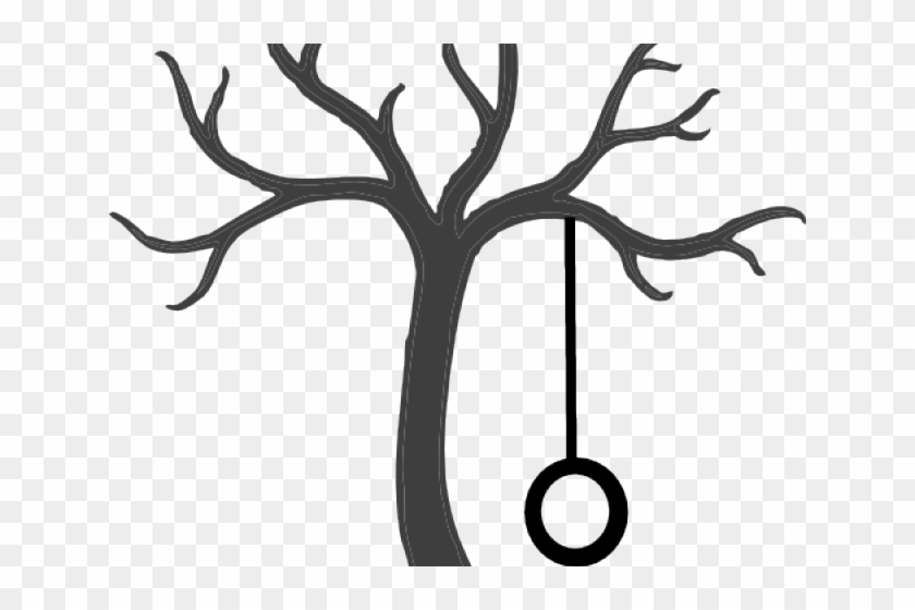 Tree Swing Cliparts - Tree Clipart Black And White #33148