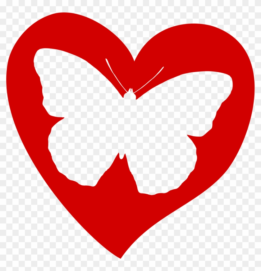 Butterfly Love Aol Image Search Results Clipart - Butterfly Heart Clipart #33218