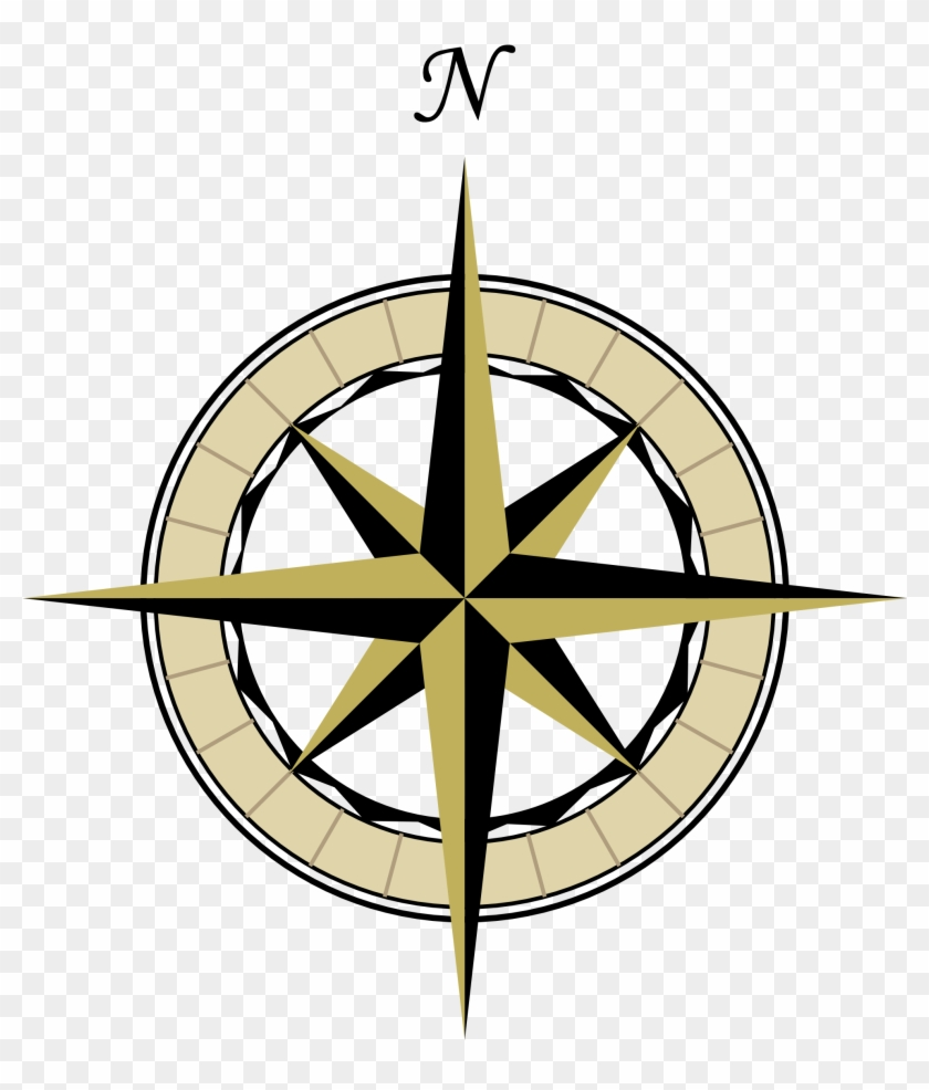 Compass Vintage Steampunk Clip Art Pass Rose The Graphics - Map Compass Rose Png #33265