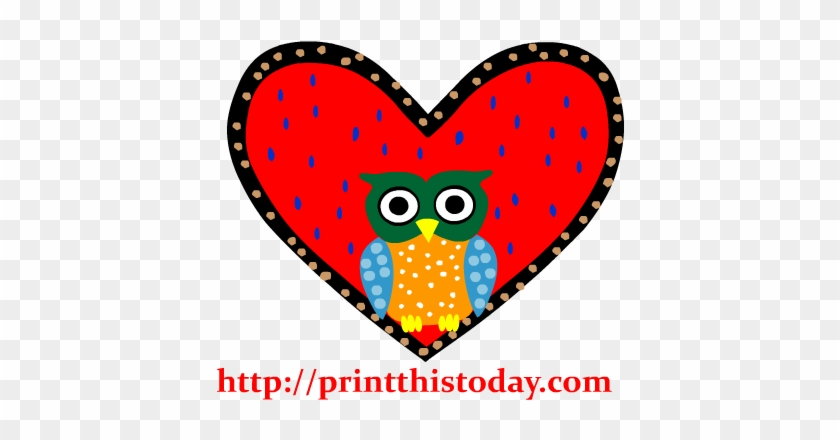 Owl In A Heart Clip Art - Owl #33263