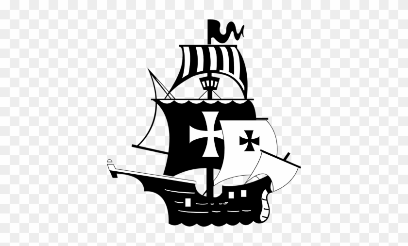 Pirate Ship Clipart Black And White - Pirate Ship Clip Art #33276