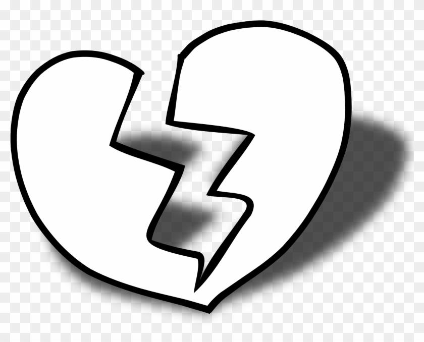 Double Heart Three Hearts Clipart Black And White Free - Broken Heart Black And White #33293