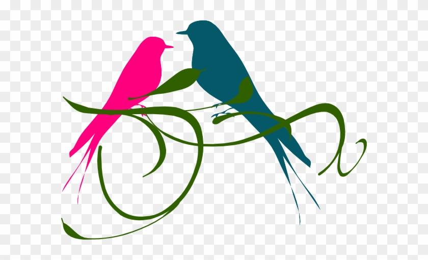 Lovebird Clipart Pink Bird - Clip Art Love Birds #33306