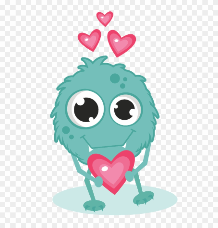 Clip Art Monster - Valentines Day Monster #33362