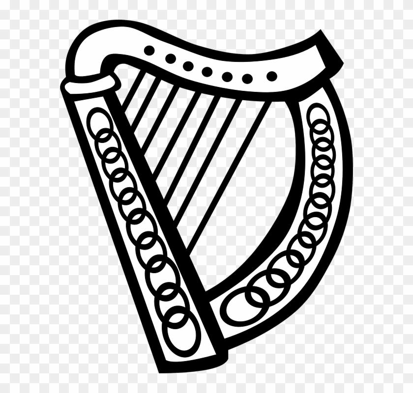 Celtic Clipart Irish Music - Irish Harp Clip Art #33386