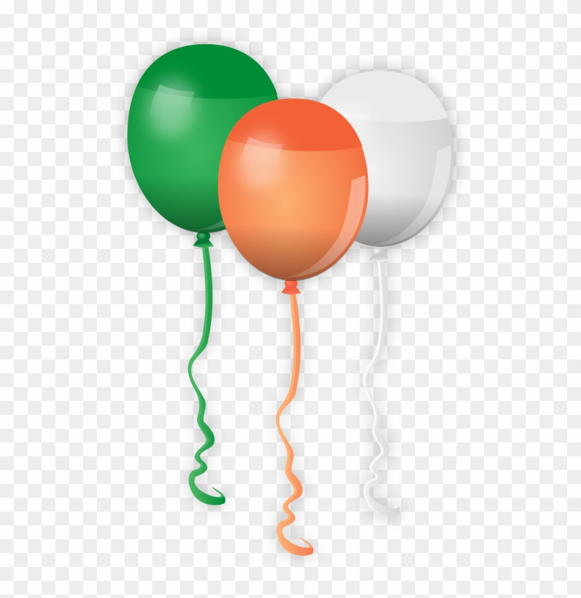 St - Patricks - Balloons Clipart - Red White And Blue Balloons Clip Art #33387