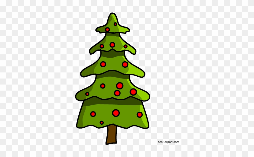 Christmas Tree With Red Lights Clip Art - Tree #33395