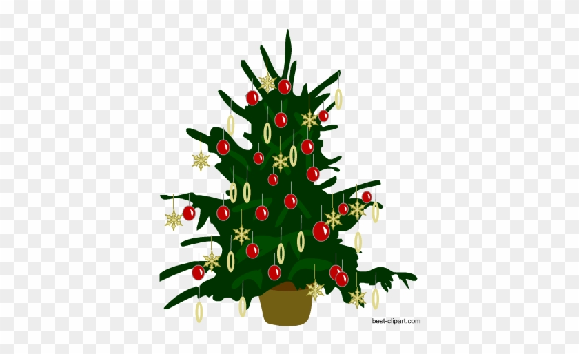 Free Decorated Christmas Tree Clip Art - Christmas Day #33427