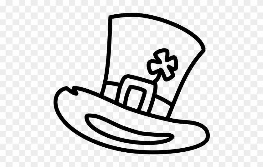 Leprechaun Hat Clipart - Irish Hat Black And White #33462