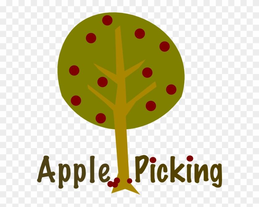 Apple Picking Tree Clip Art - Teal Pumpkin Project Sign #33466
