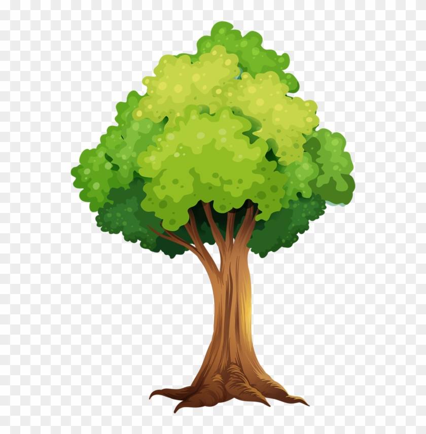 Tree Leavescub - Tree With Tree House Clip Art #33472