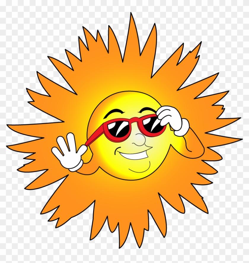 Weather Clip Art - Sun With Glasses Clip Art #33490