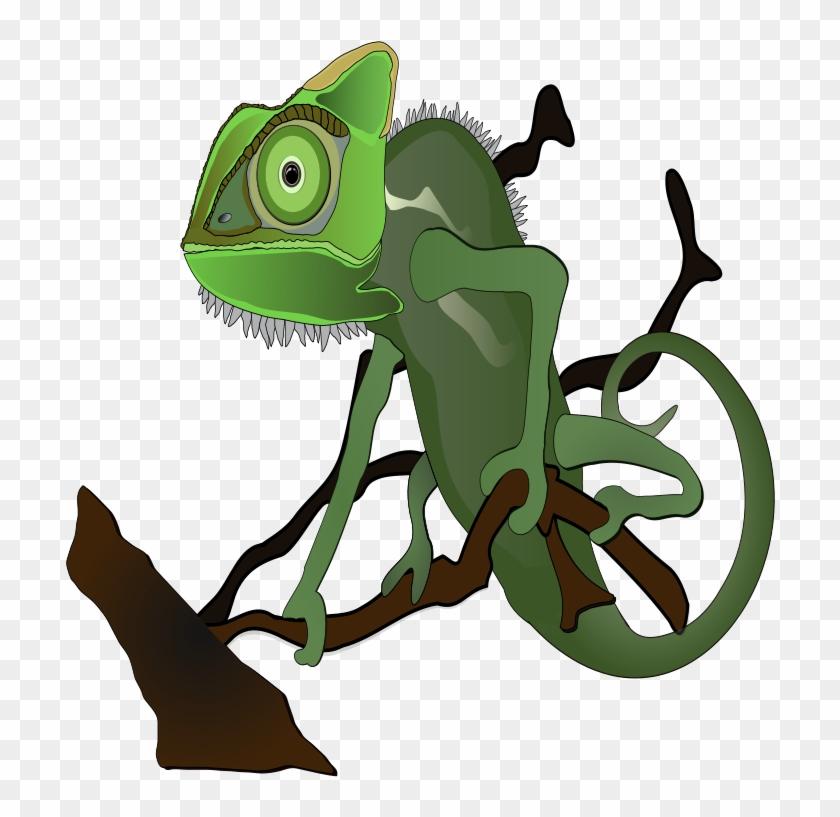 Tree Clipart Images - Chameleon Clip Art #33491