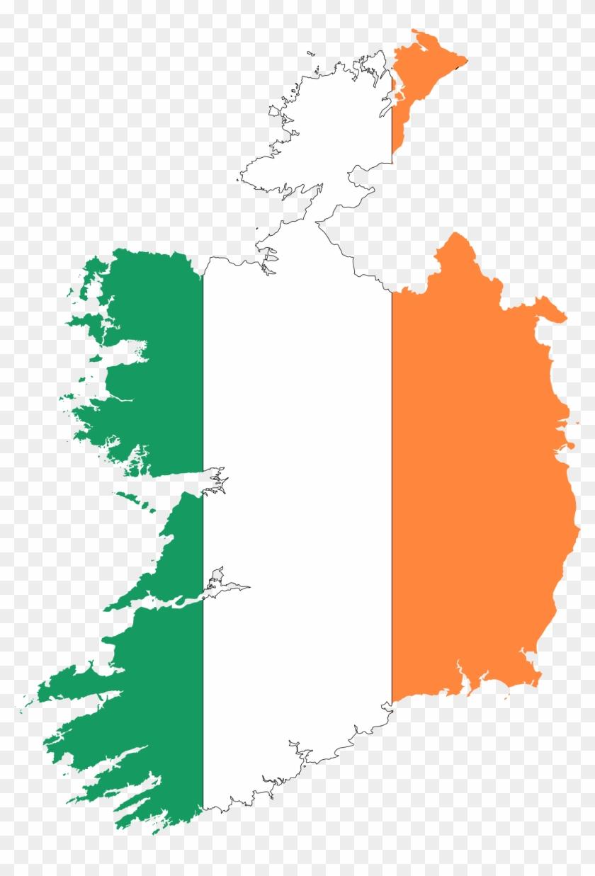 Irish Clipart Ireland Map - Ireland Map Flag #33495