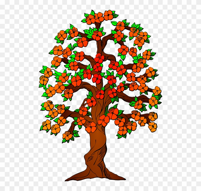 Autumn Fall Tree Leaves Colorful Fall Colors - 3 Generation Family Tree #33501