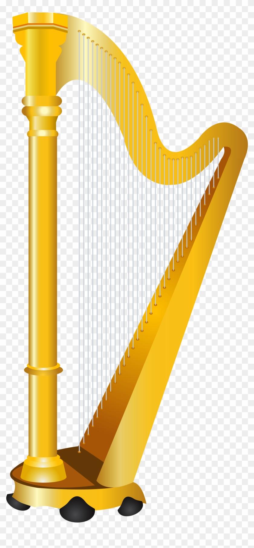 Golden Harp Clipart #33540