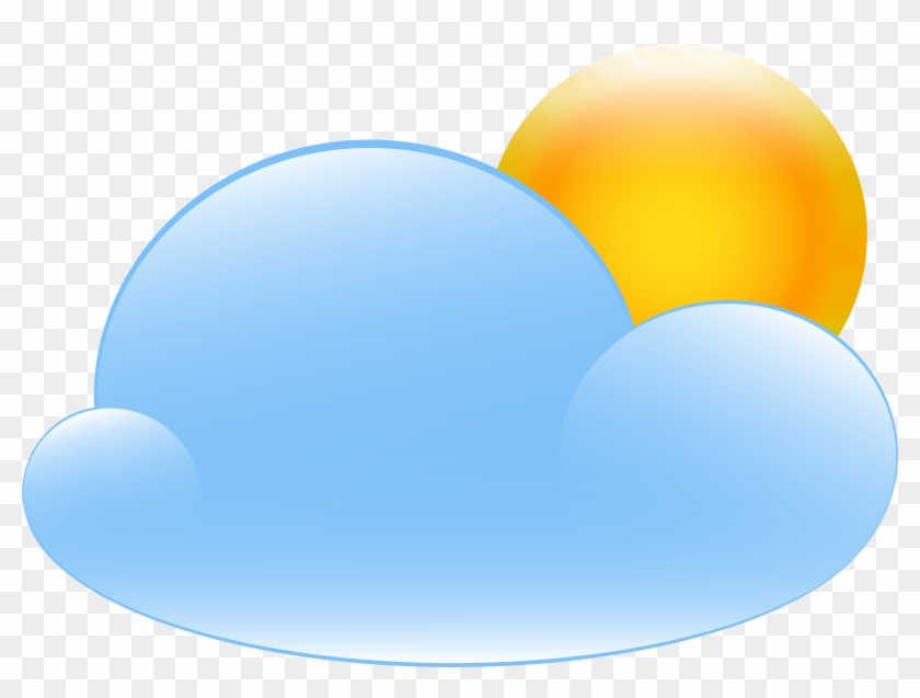 Partly Cloudy With Sun Weather Icon Png Clip Art - Full Cloudy Weather #33586