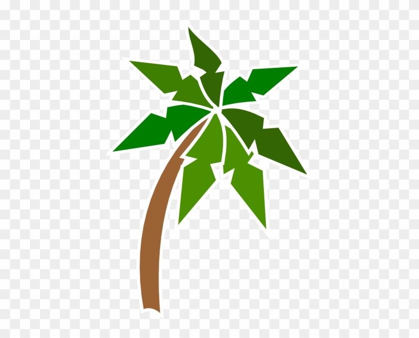 Coconut Tree Clip Art At Clker - Beach #33567