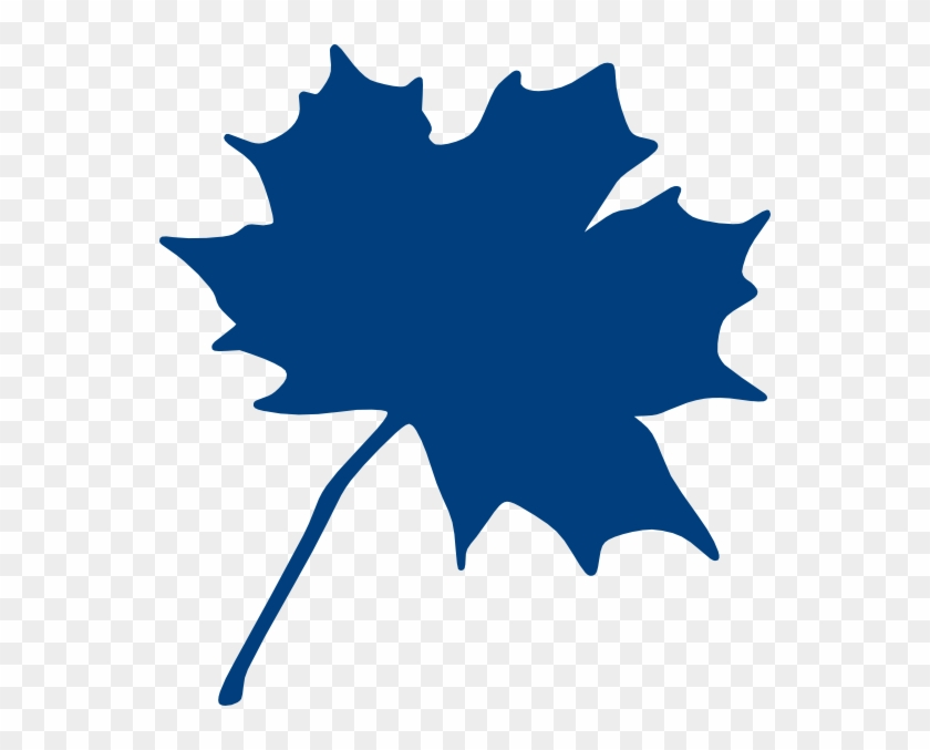 Maple Leaf Image Clip Art - Blue Maple Leaf Clip Art #33582