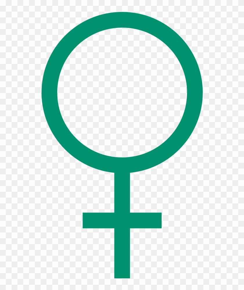 Irish Clip Art Free - Teal Female Symbol #33625