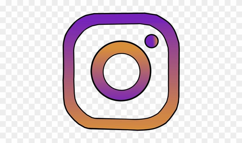 Instagram Insta Icon Clipart Vector Sticker - Instagram #33627