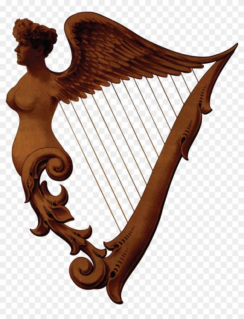 Free Clipart Of An Irish Harp - Harp Png #33645
